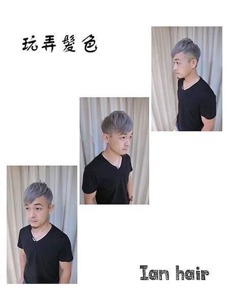 台北推薦染髮 乾燥凋零花紫灰  西門町推薦染髮