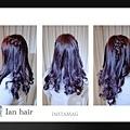 台北推薦染髮 冷豔紫紅色 西門盯推薦染髮