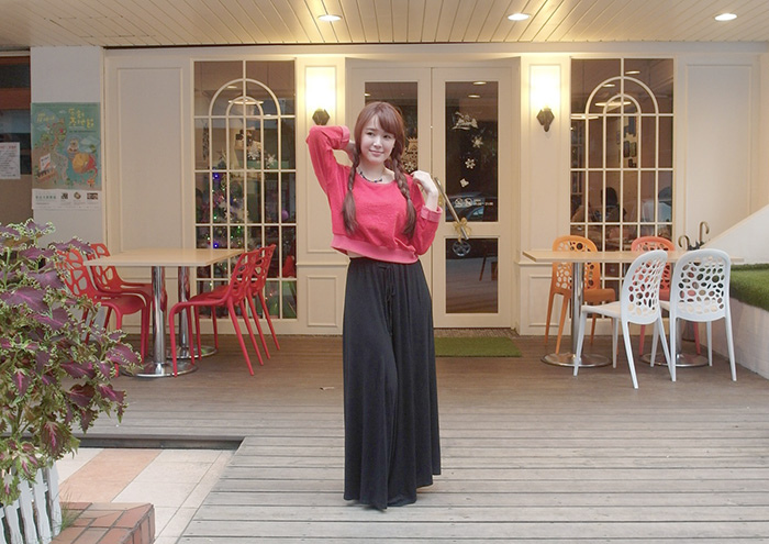mius長褲裙兩種搭法