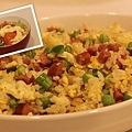 青椒香腸四季豆炒飯