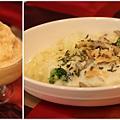 今日早餐:重乳酪松果鮮菇焗飯&番茄優格冰沙