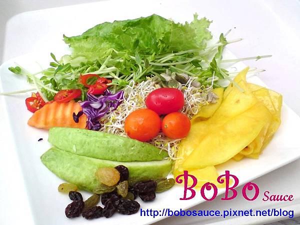 蔬菜沙拉加字檔
