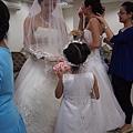 樹林教會婚禮前在新娘休息室