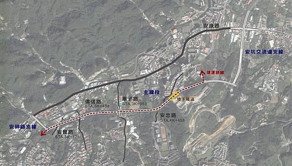 安康特一號道路路線圖(衛星圖)