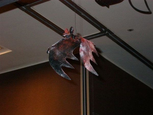 掛在天花板上的蝙輻..