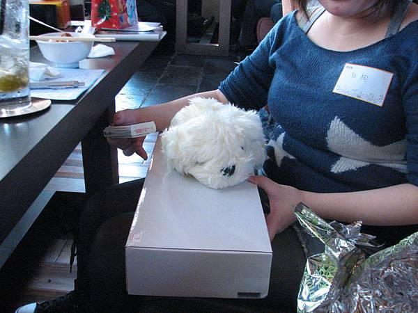 我買的白狗娃娃