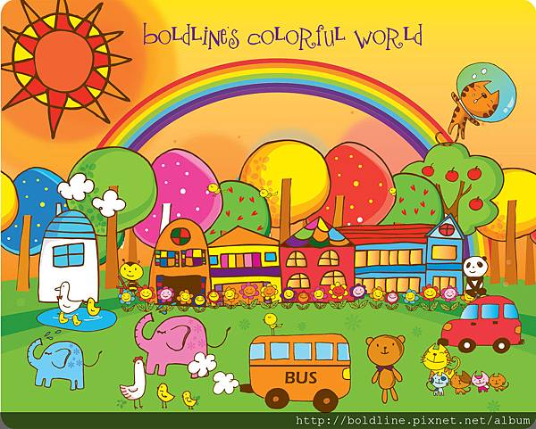 Boldline Colorful world