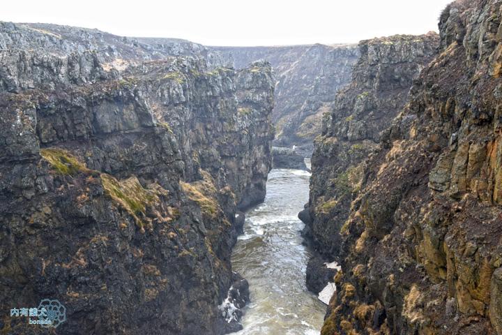 Kolugljúfur.Kolugljufur.Kola巨人峽谷瀑布