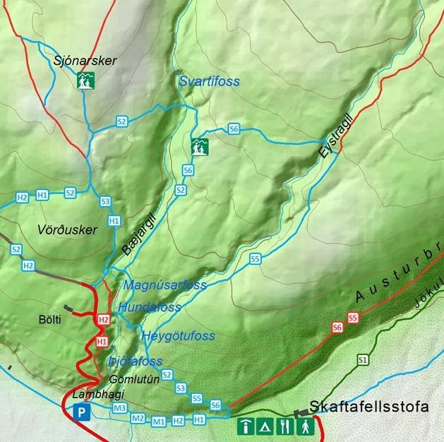 Svartifoss.斯瓦蒂瀑布(玄武岩瀑布)