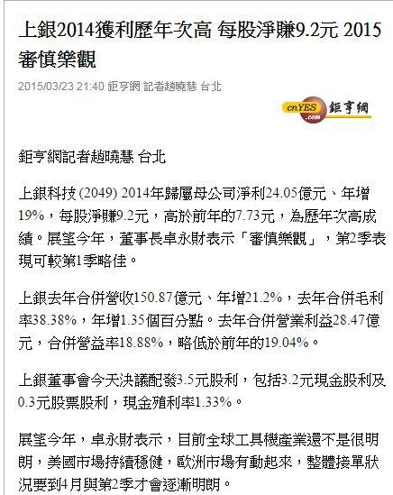 上銀20150324新聞