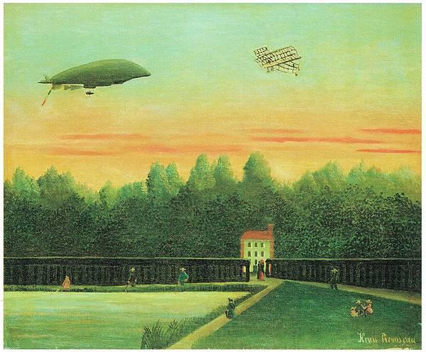 亨利盧梭-飛行船「レピュブリック号」とライト飛行機のある風景.jpg