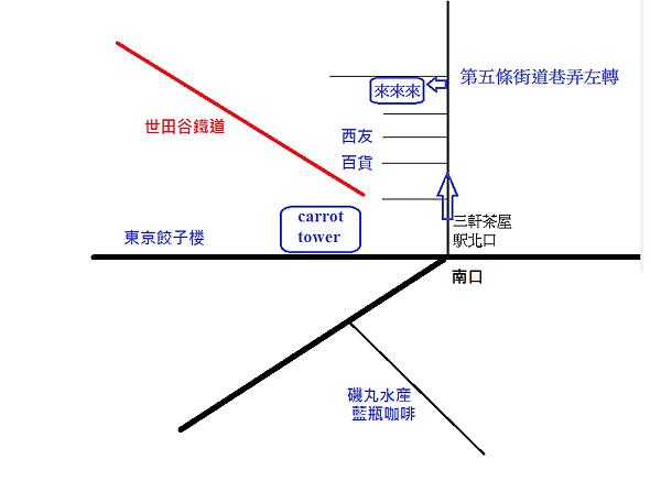 三軒茶屋地圖