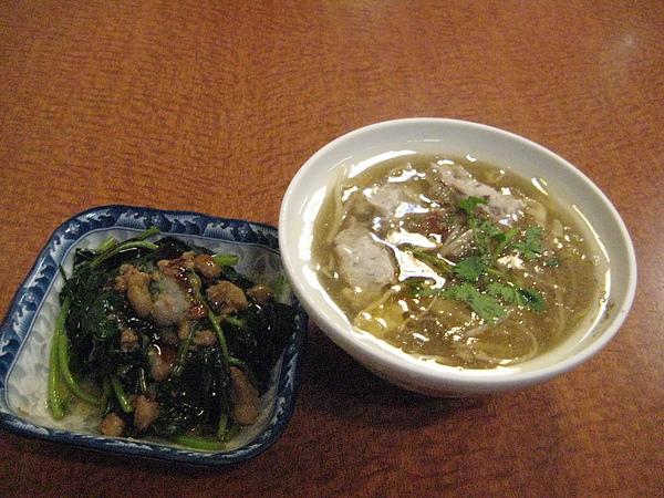 海鮮羹+燙青菜