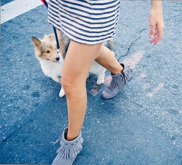 Minnetonka Moccasin Blogger misspouty street style forever21 quilted blazer rag bone stripe dress marc jacobs bag karen walker sunglasses08