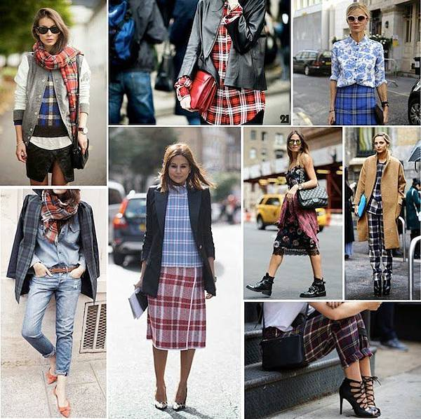 plaid fashion street style