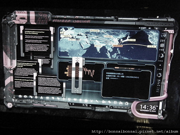 駭客娜娜的電腦桌面