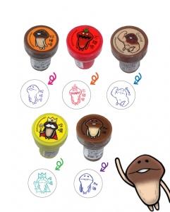 菇菇栽培研究室印章 五款造型單售(可選款)