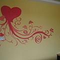 牆上的壁畫很可愛