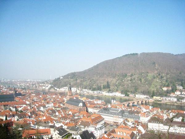 從海德堡城堡俯拍