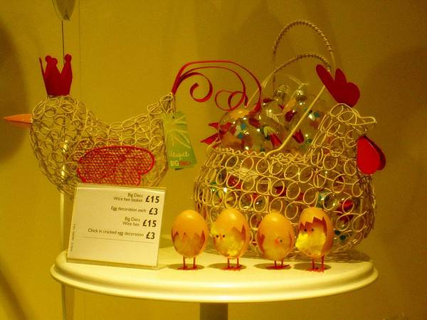 Easter window display