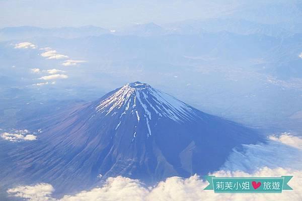 機上看富士山