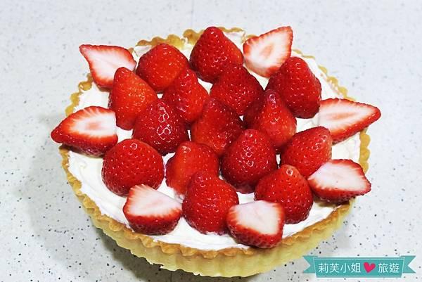 草莓奶油起司塔