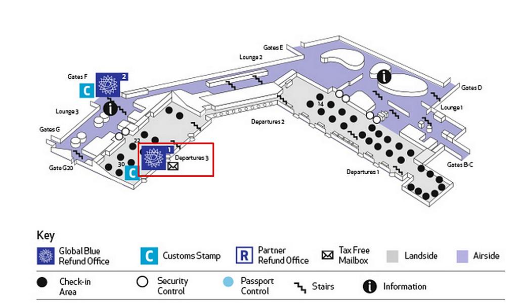 阿姆斯特丹機場退稅
