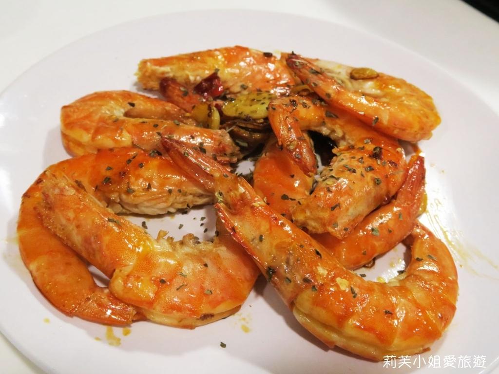 橄欖油蒜炒鮮蝦