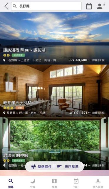 日本住宿特價