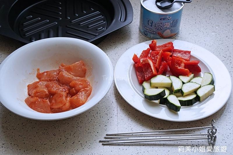 櫛瓜雞肉串燒