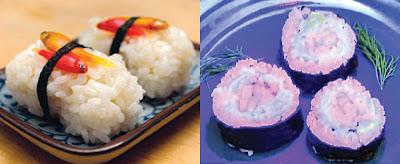 斑馬魚螢光壽司