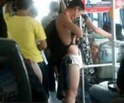 內褲男乘公交