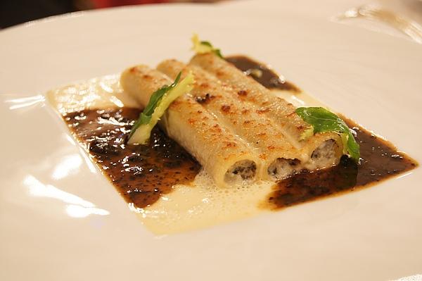 marcaronis farcis-truffe noire-artichaut-foie gras-gratin au vieux parmesan 1.JPG