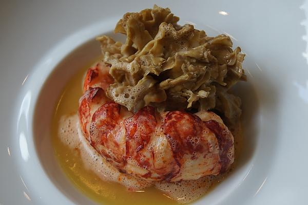 homard roti au beurre sale-morille des pins au jus de tete pressees 2.JPG