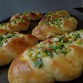 鵝油蔥花麵包