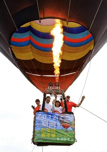 熱氣球升空