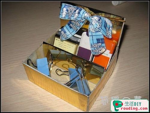 牙膏盒大變身為精美筆筒和收納盒2.