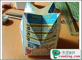 牛奶盒改造漂亮的禮品盒4.