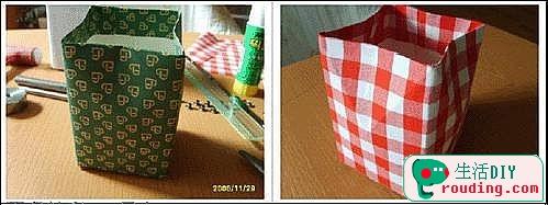 牛奶盒改造漂亮的禮品盒7.