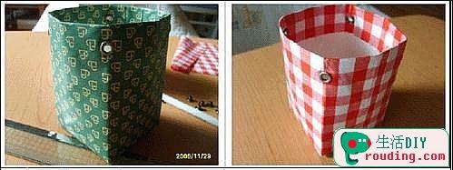 牛奶盒改造漂亮的禮品盒8.