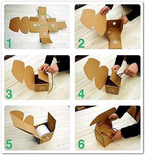 用瓦楞紙板自製diy紙抽盒3.
