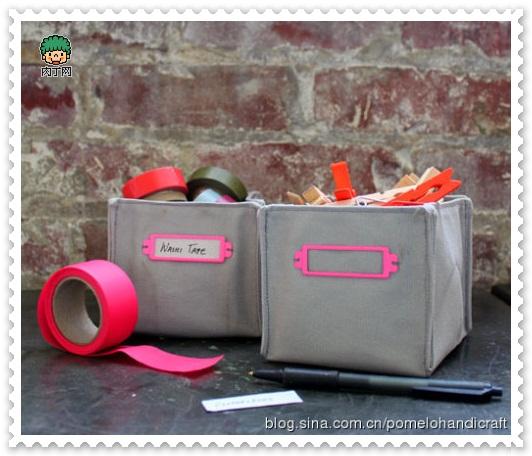 DIY布藝收納盒1