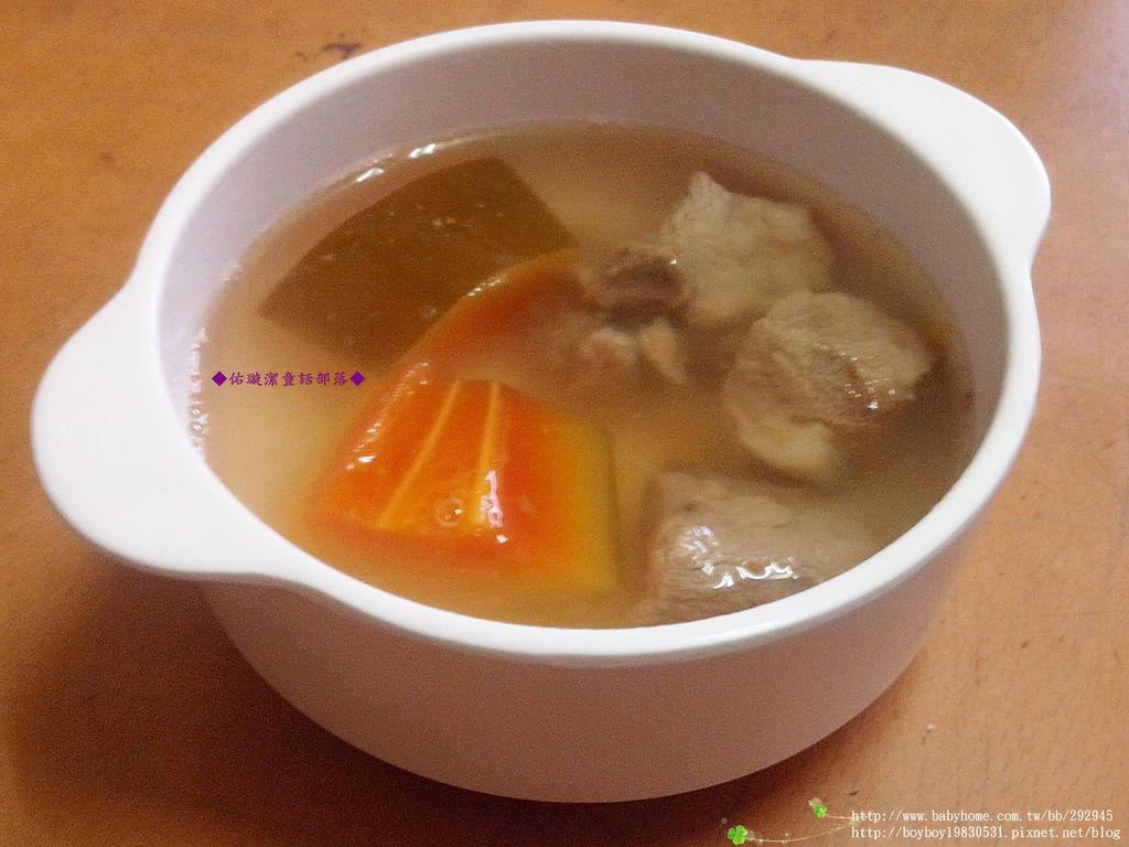 『 私房菜 』 青木瓜排骨湯
