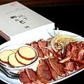 煙燻鴨肉及冷酪拼盤