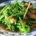 芥藍炒脆皮豬肉