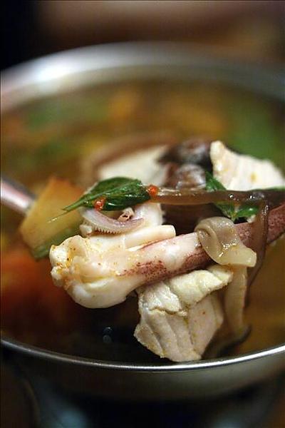 泰味酸辣海鮮湯的配料