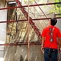 四樓陽台,往頂樓的樓梯