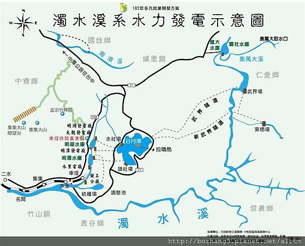 濁水系發電圖