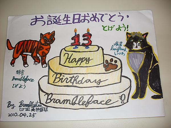生日賀圖 2010 _棘星 繪