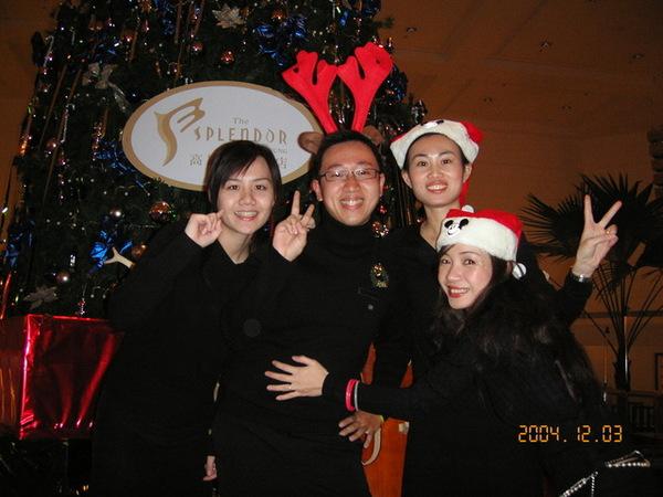 充滿耶誕氣氛的Brasserie